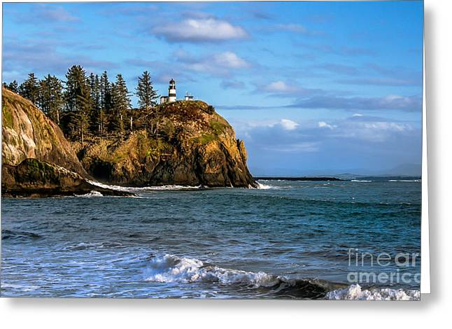 Looking At Cape Disappointment Greeting Card
