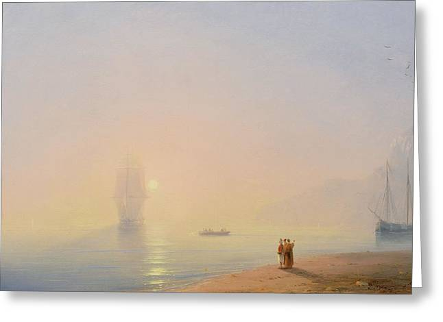 Looking At The Black Sea Greeting Card by Ivan Konstantinovich Aivazovsky