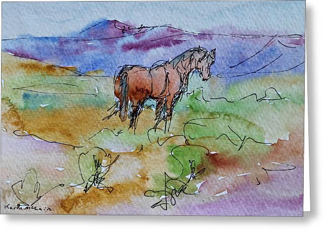 Looking Back Greeting Card by Karen McLain