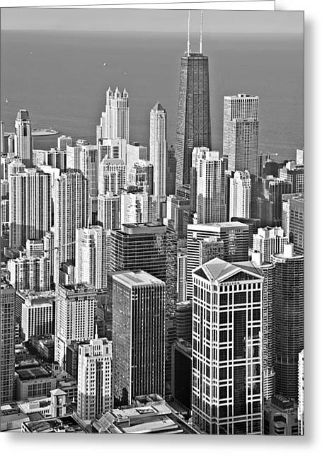 Looking Down At Beautiful Chicago Greeting Card
