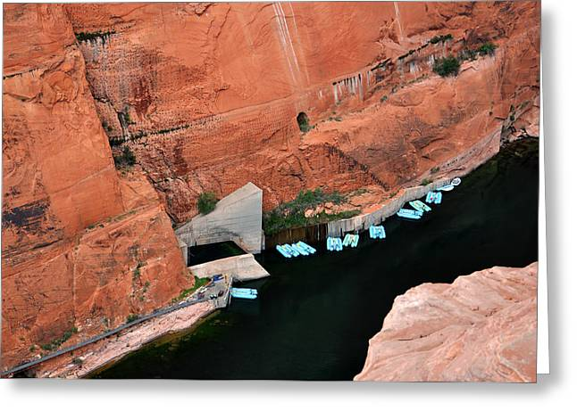 Looking Down At Glen Canyon  Greeting Card