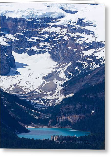 Looking Down At Lake Louise #2 Greeting Card