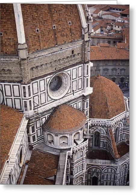 Looking Down At The Duomo Greeting Card by Stuart Litoff