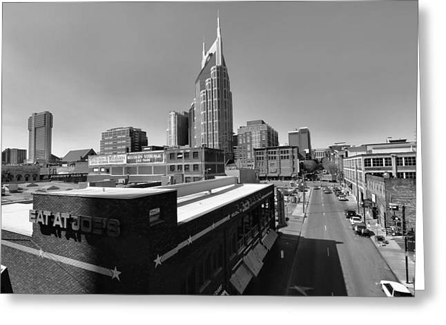 Looking Down On Nashville Greeting Card by Dan Sproul