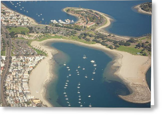 Looking Down On San Diego Greeting Card