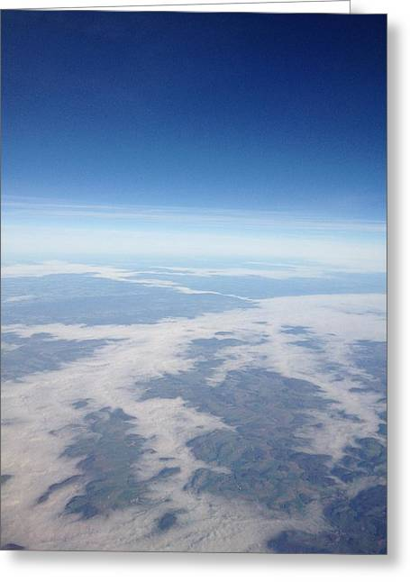Looking Down On The Earth Greeting Card by Daniel Precht