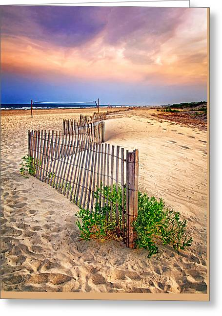 Looking Down The Beach Greeting Card