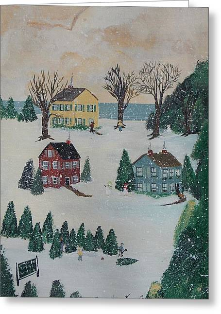 Looking For A Tree Greeting Card by Virginia Coyle