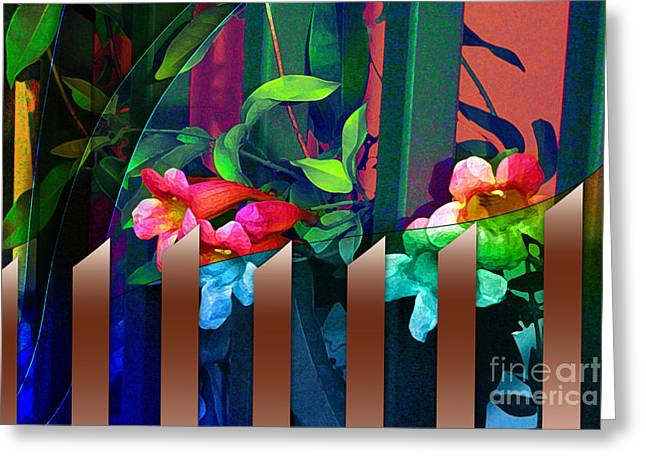 Looking For Abstract Greeting Card by Allison Ashton