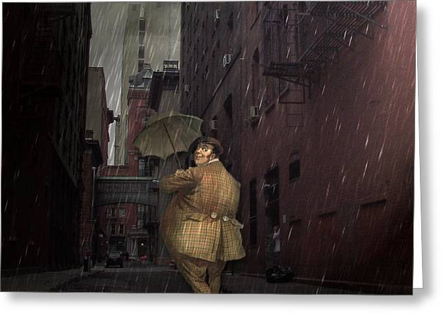 Looking For Broadway Greeting Card by Kathleen Holley