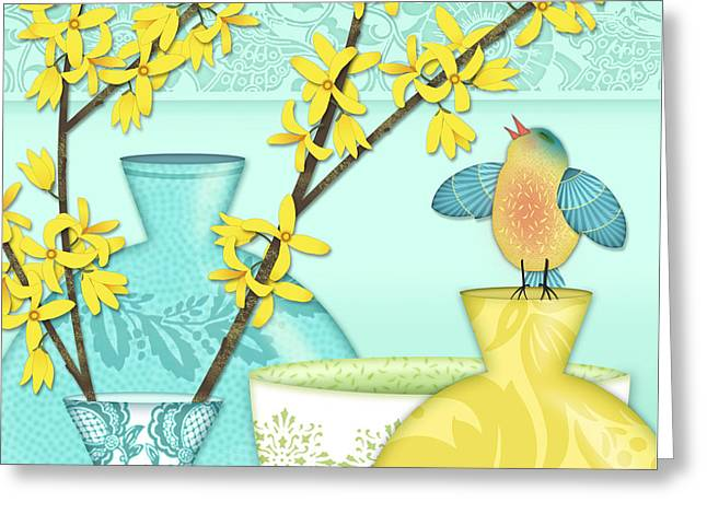 Looking For Spring Greeting Card