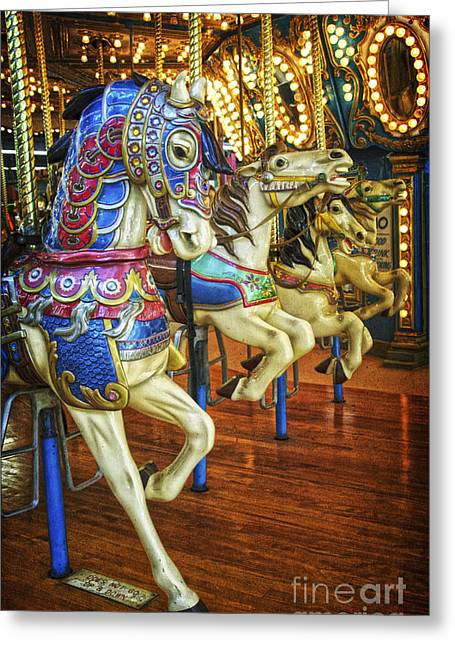 Greeting Card featuring the photograph Dancing Horses by Debra Fedchin