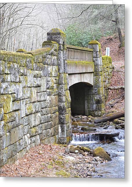 Looking Glass Creek Bridge - Vertical Greeting Card