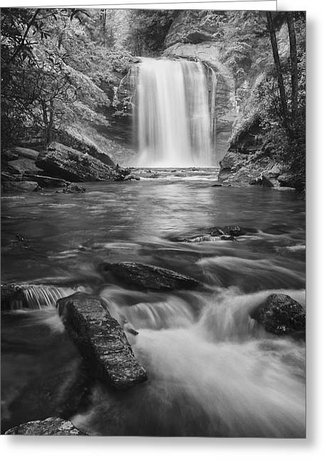 Greeting Card featuring the photograph Looking Glass Falls by Photography  By Sai