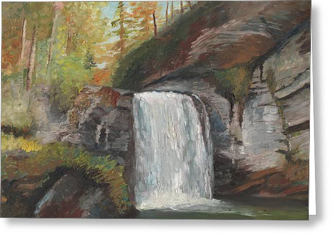 Looking Glass Falls Greeting Card by William Killen