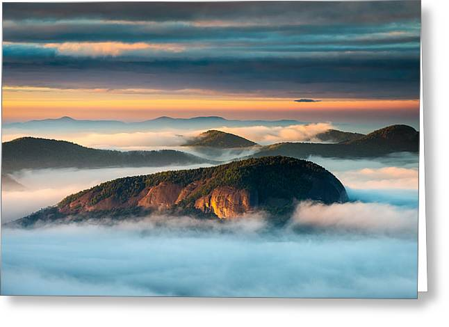 Looking Glass Rock Blue Ridge Parkway Nc Western North Carolina Greeting Card by Dave Allen