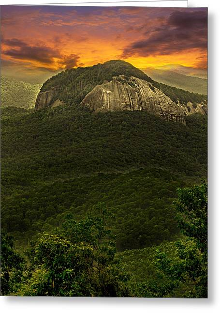 Looking Glass Rock North Carolina  Greeting Card by Gray  Artus