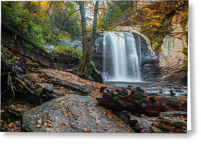 Greeting Card featuring the photograph Looking Glass Waterfall by RC Pics