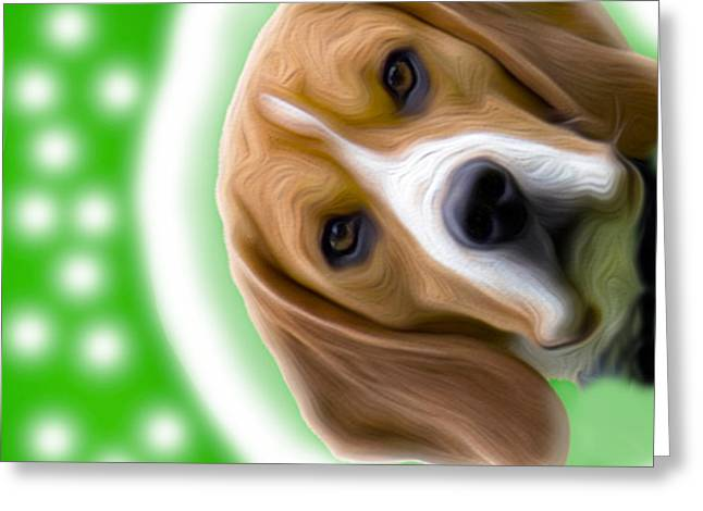 Looking Good Dog Greeting Card by Jo Collins