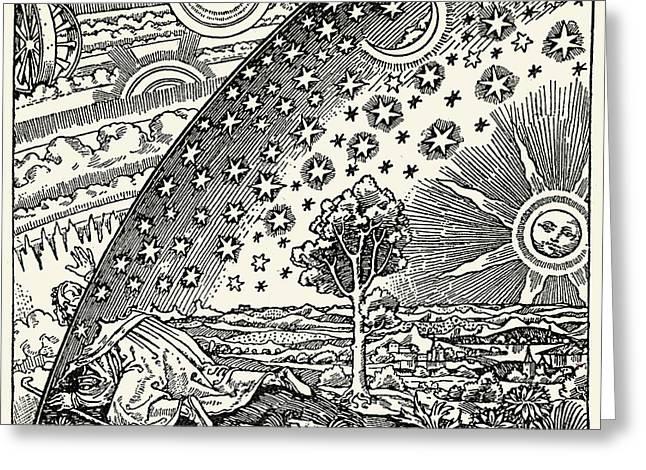 Looking Into The Cosmos Greeting Card by Detlev Van Ravenswaay