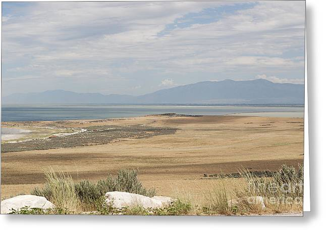 Greeting Card featuring the photograph Looking North From Antelope Island by Belinda Greb