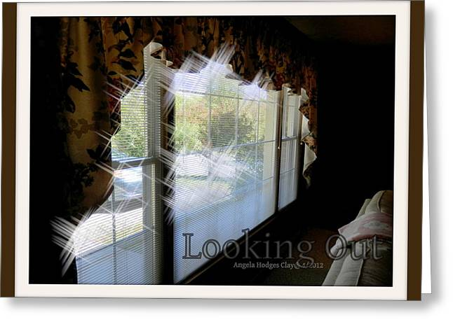Greeting Card featuring the digital art Looking Out by Angelia Hodges Clay