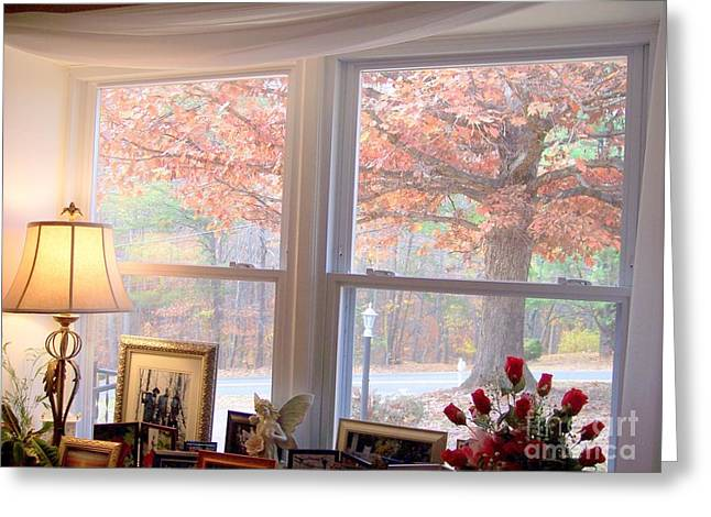 Looking Out By Angelia Clay Greeting Card