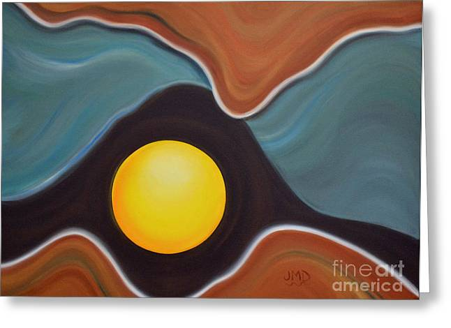 Looking Out Greeting Card by Janice DeAngelis