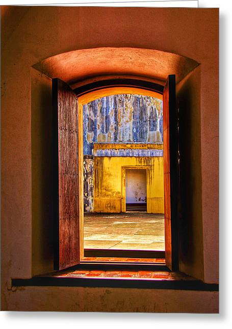 Looking Out Greeting Card by Kathi Isserman
