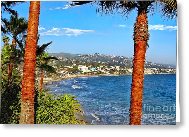 Cliffs Over Ocean Greeting Cards - Looking Out over Laguna Beach Greeting Card by Mariola Bitner