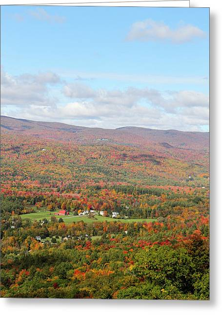 Looking Out Over The Autumn Landscape Greeting Card