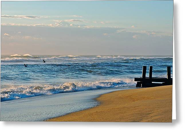 Looking Out To Sea Greeting Card by Eve Spring