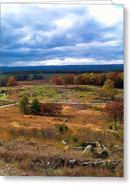 Looking Over The Gettysburg Battlefield Greeting Card by Amazing Photographs AKA Christian Wilson