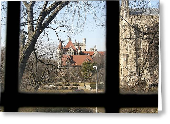 Looking Past The Window  Greeting Card by Eugene Bergeron