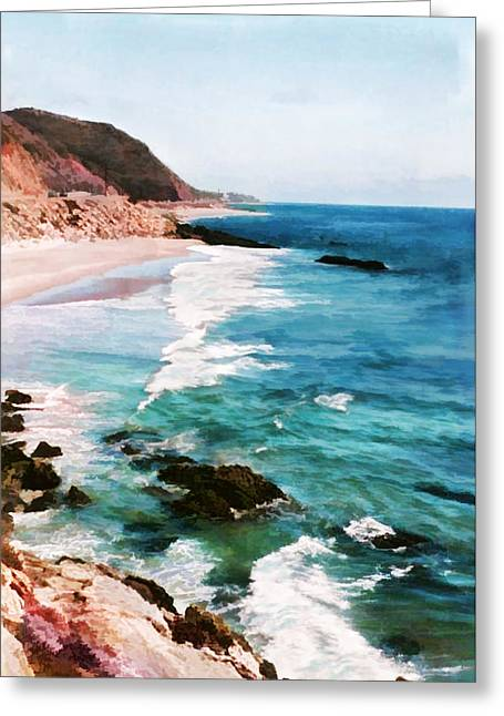 Looking South On The Northern California Coast Greeting Card by Elaine Plesser