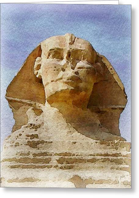 Looking Straight At The Sphinx Greeting Card by Philip White