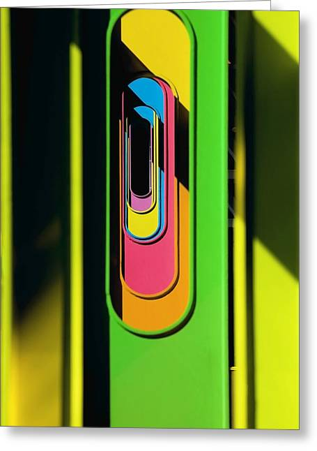 Looking Through Colorful Ovals Greeting Card by David Chapman