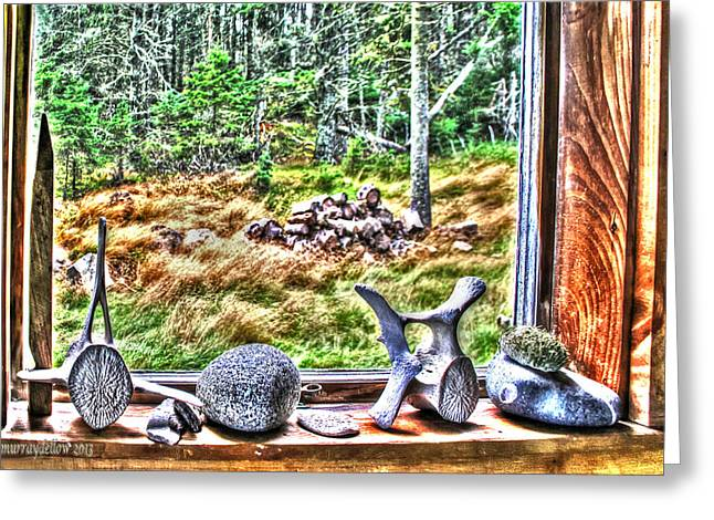 Looking Through The Window With Whalebones Greeting Card