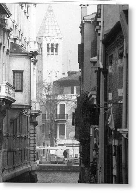Looking Through To A View Venice Greeting Card by Dorothy Berry-Lound
