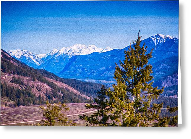 Looking To Mazama From Sun Mountain Greeting Card by Omaste Witkowski