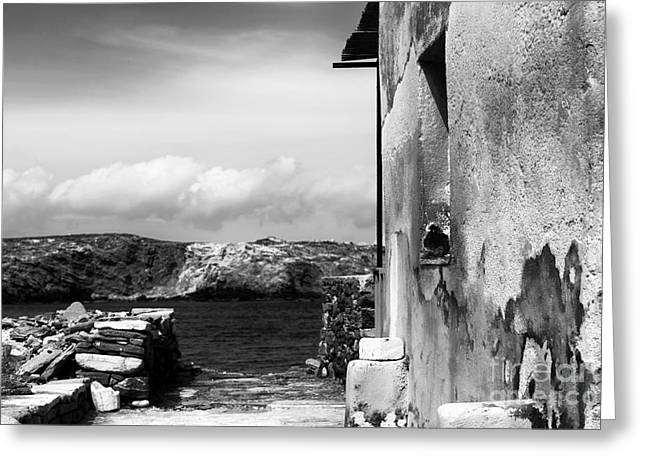 Looking To The Aegean Sea Greeting Card