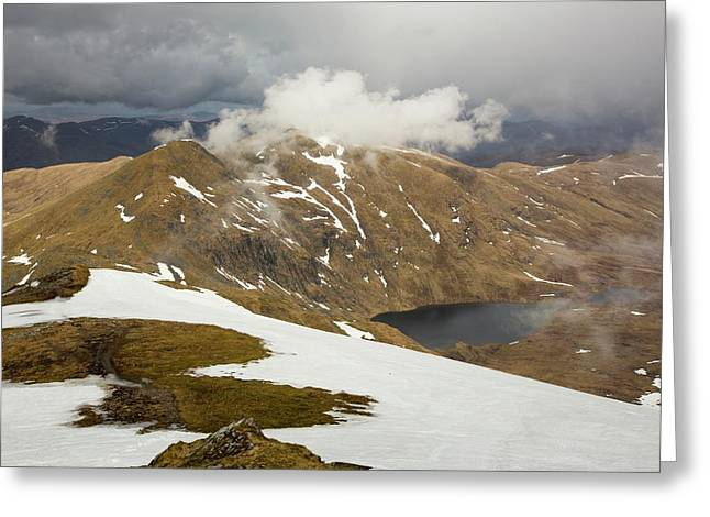 Looking Towards Meall Garbh Greeting Card by Ashley Cooper