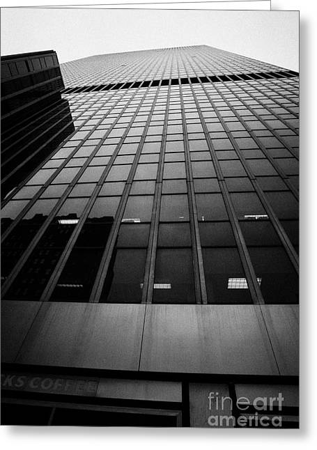 Looking Up At 1 Penn Plaza On 34th Street New York City Usa Greeting Card