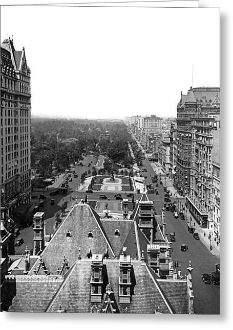 Looking Up Fifth Avenue Greeting Card by Underwood Archives
