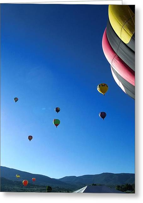 Looking Up Greeting Card by Stephen Schaps