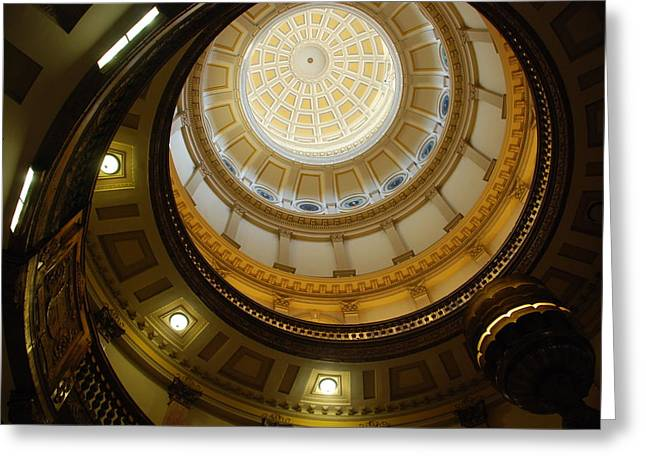 Looking Up The Capitol Dome - Denver Greeting Card by Dany Lison