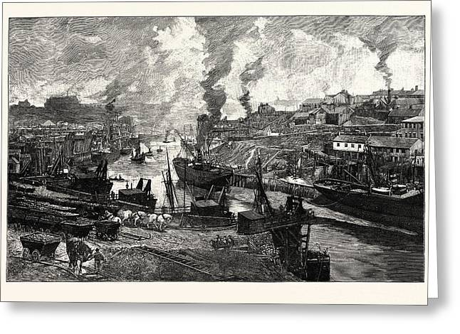 Looking Up The River, Sunderland, At The Heart Of The City Greeting Card