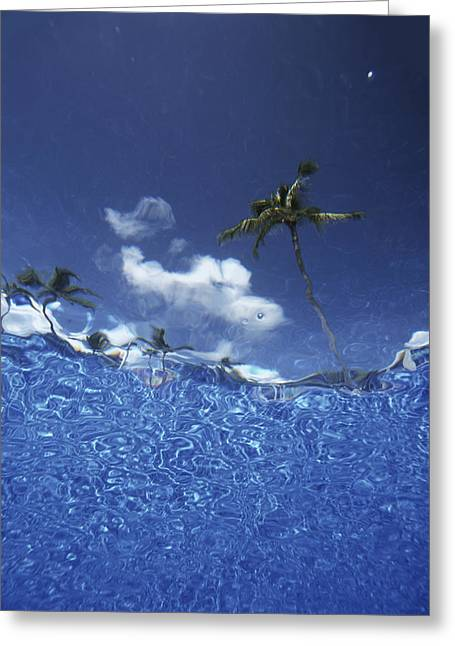 Looking Up Through Swimming Pool �� Greeting Card by Ian Cumming