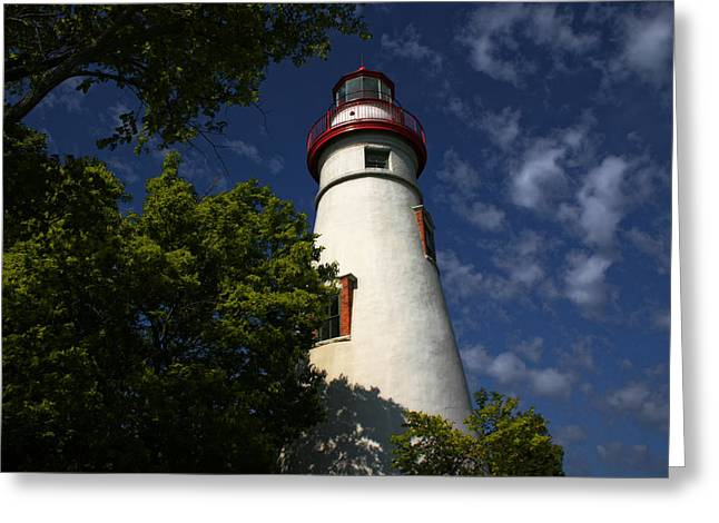 Looking Up To Marblehead Light Greeting Card