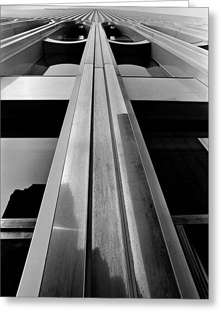 Looking-up World Trade Center Greeting Card by Wernher Krutein
